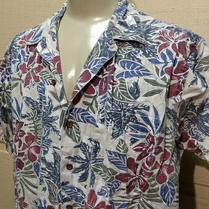 2/$30 - Nautica Hawaiian button down size L
